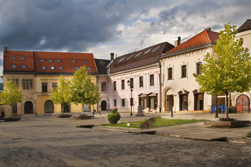 Download Old town square stock image. Image of buildings, gate - 6213827