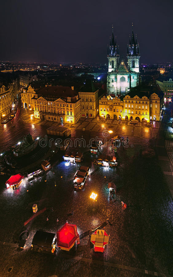 Old Town Square and Church of Our Lady in Prague