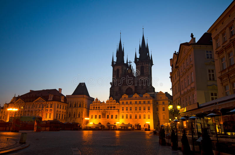 Download Old Town Square At Night (Stare Mesto), Prague Stock Photo - Image: 19588938