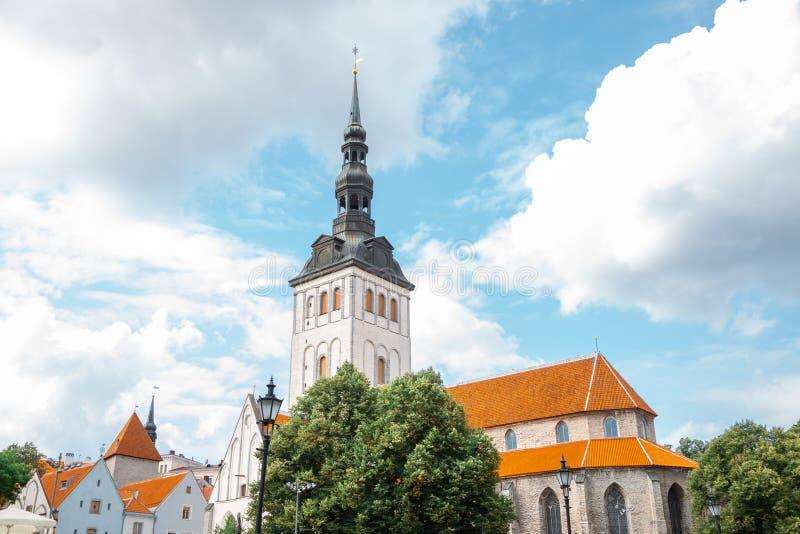 Old town St. Nicholas Church in Tallinn, Estonia. Europe stock image