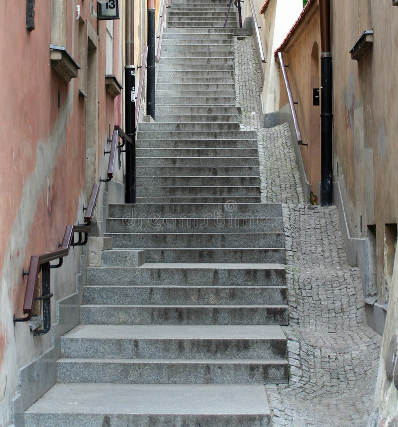 Free Old Town Stairs Stock Images - 840484
