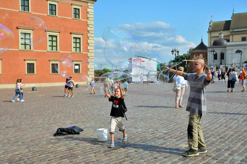 Old Town Stare Miasto Warsaw, Castle Square royalty free stock images