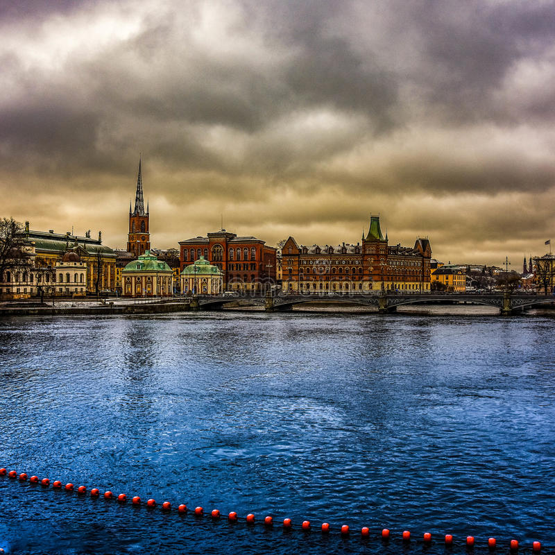 Old town,Stockholm stock photography