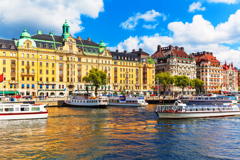 Download Old Town In Stockholm, Sweden Stock Photo - Image of boat, scandinavia: 34989082