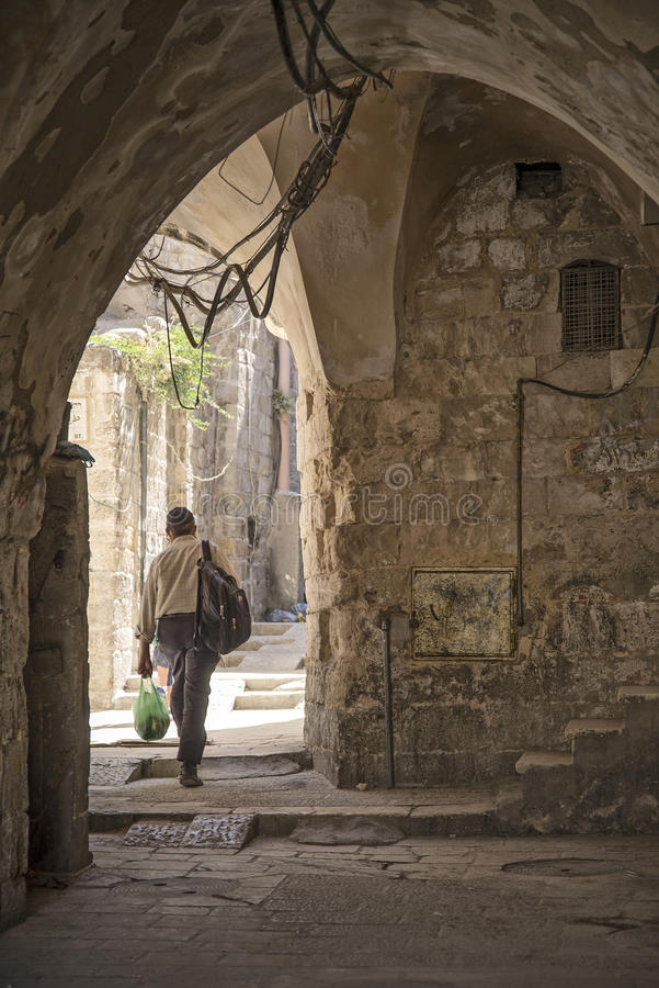 Old Town Street In Jerusalem Israel Editorial Photography
