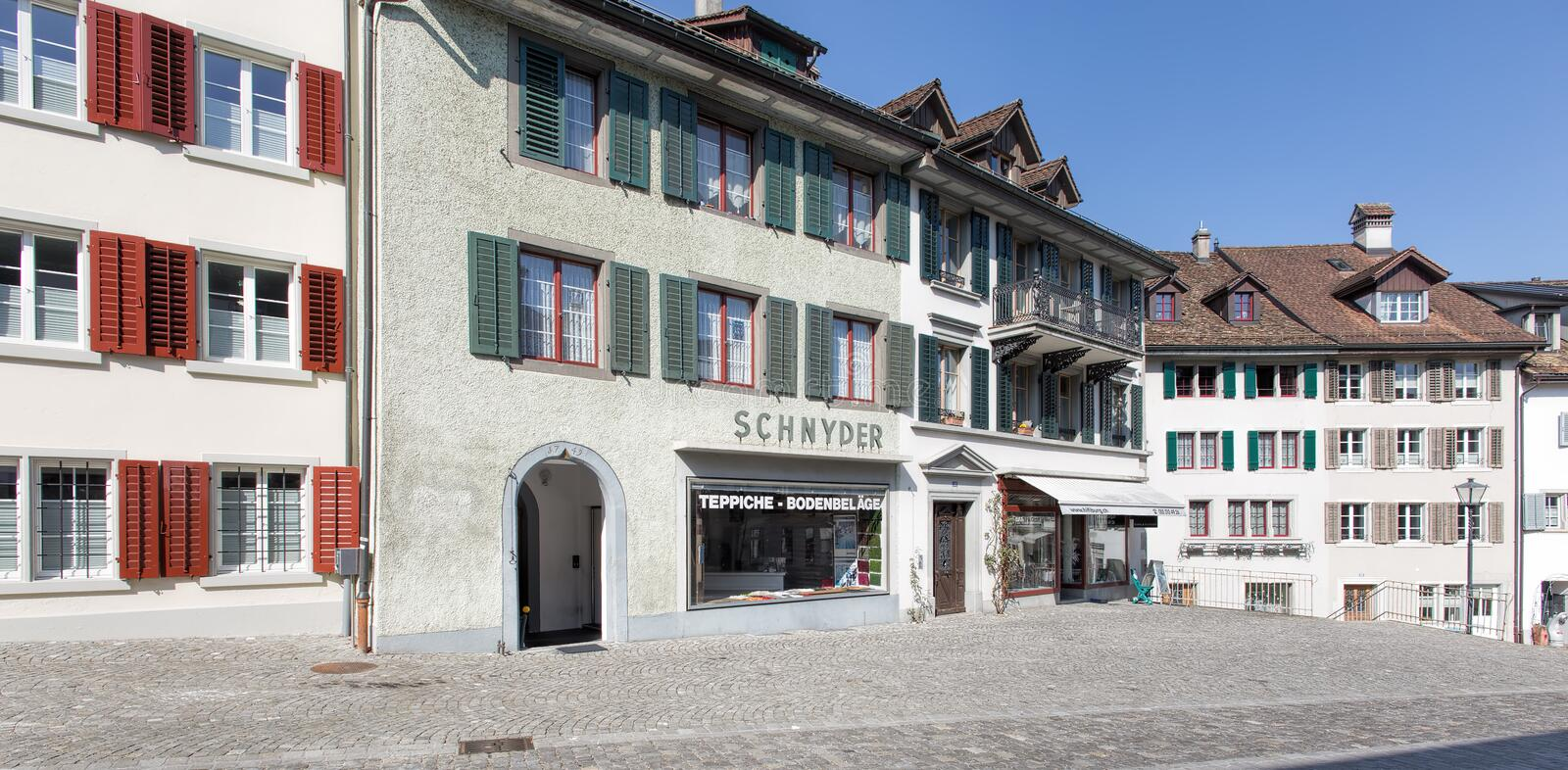 Download Old Town Street In Rapperswil Editorial Image - Image of town, facade: 51542985