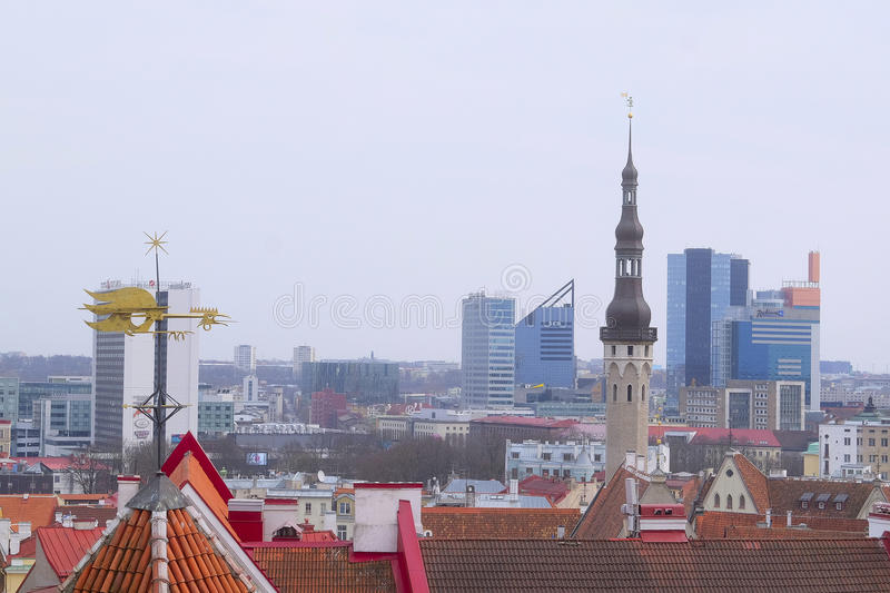 Old town of Tallin, Estonia stock photography