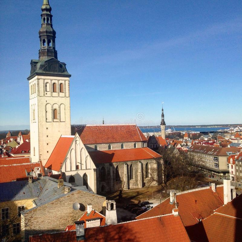 Old Town Tallin stock images