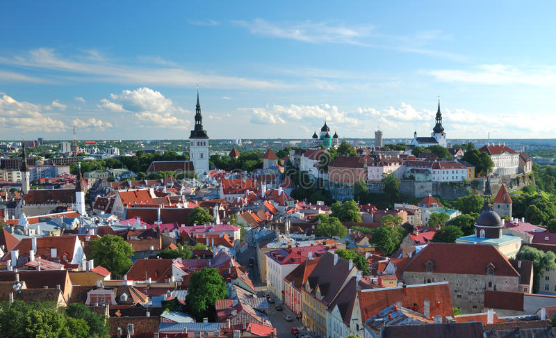 Old town in Tallinn royalty free stock photo
