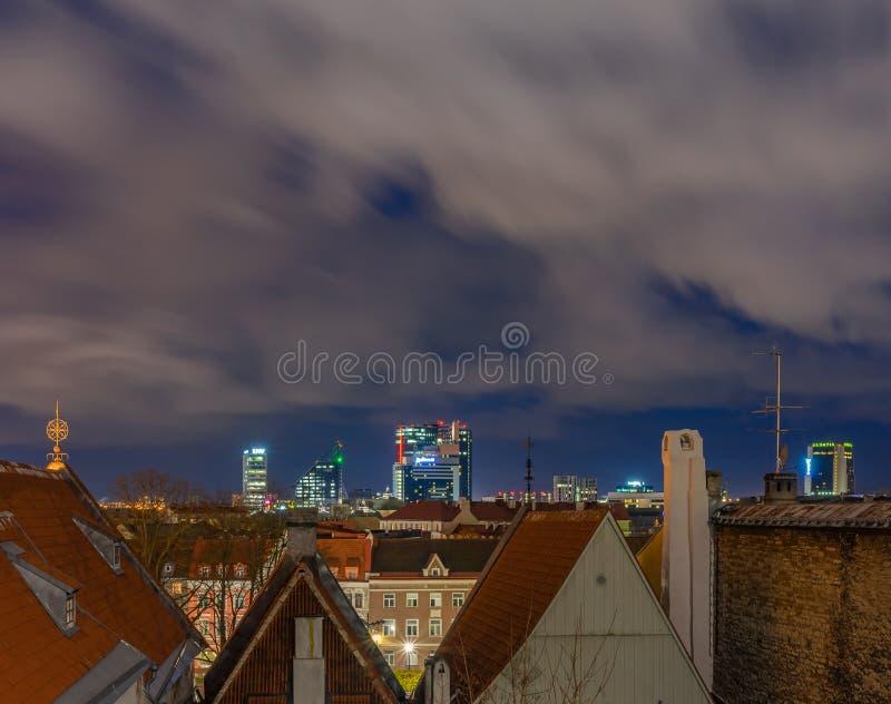 Tallinn, Estonia - 31.10.2019 Old town of Tallinn in Night Time, with long exposure Tallinn, Estonia stock images