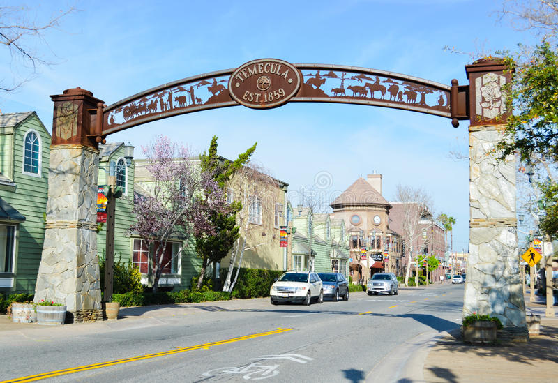 Old Town Temecula royalty free stock image