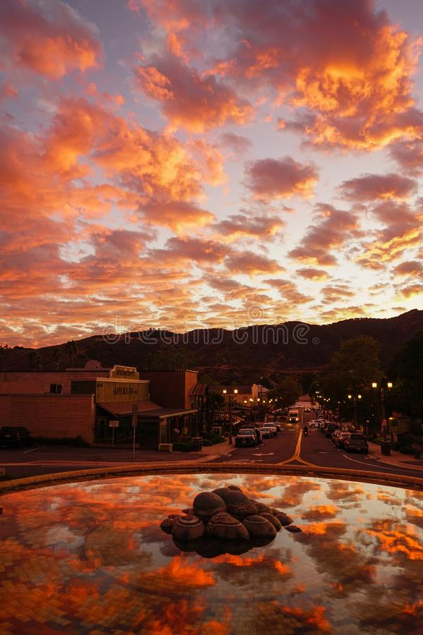 Old Town Temecula, Southern California stock photography