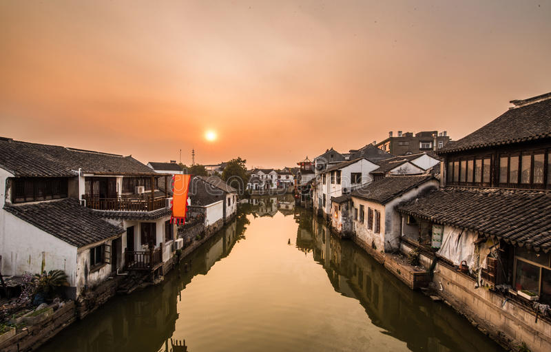 Old-town of tongli, Ancient Villages in Suzhou. Jiangsu, China royalty free stock photography