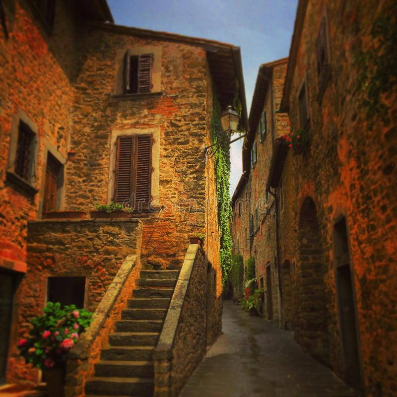 Old town in Tuscany. An old town in Tuscany, Italy royalty free stock photo