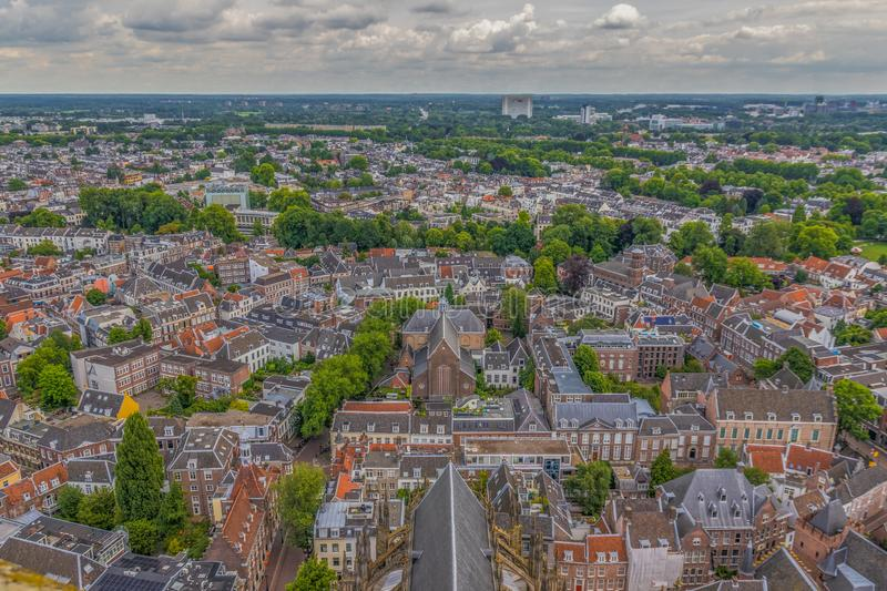 The Old Town of Utrecht, Netherland. Utrecht, Netherlands - the fourth biggest city of the country, with a wonderful Old Town characterized by the classic dutch stock photos