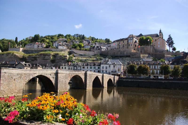 Download Old town view stock image. Image of culture, flowers, bridge - 2304057
