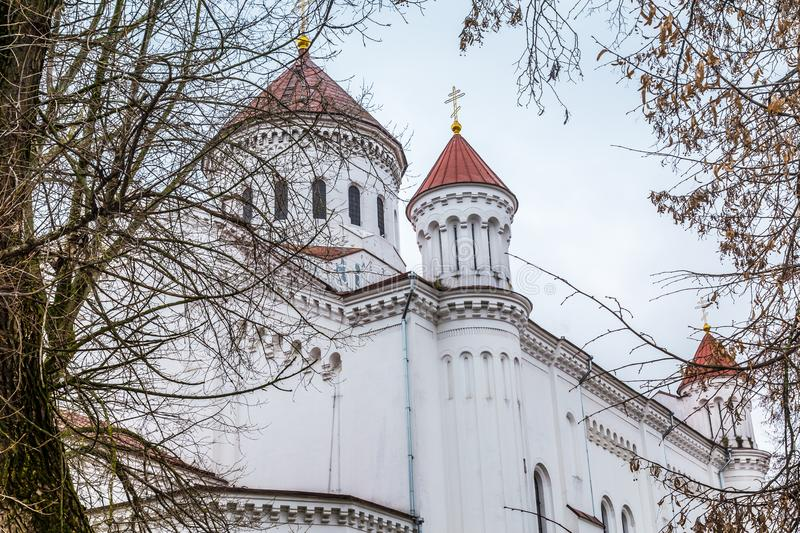 Old town Vilnius Lithuania. Orhodox cathedral in the old town of Vilius in Lithuania Baltic States Europe royalty free stock image