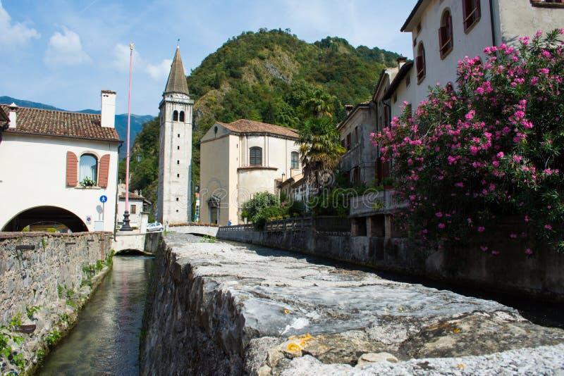 Old town in Vittorio Veneto, Italy stock photography