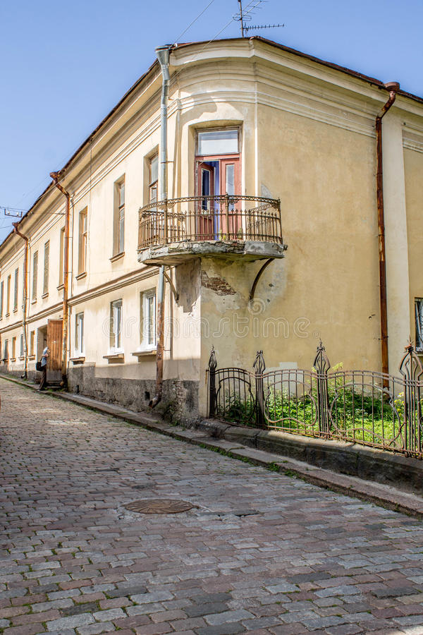 Old town in Vyborg royalty free stock photography