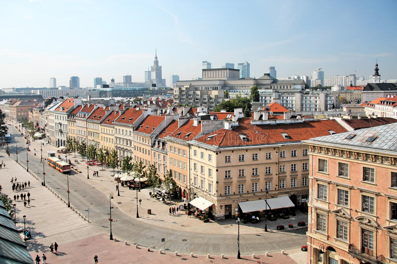 Old Town in Warsaw. stock photography