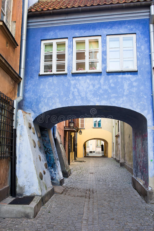 Download Old Town in Warsaw stock image. Image of house, gate - 22098569