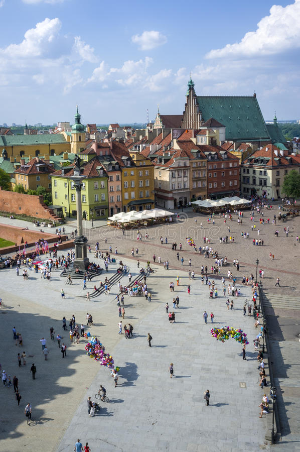 Old Town in Warsaw - panoramic view, Poland royalty free stock photo