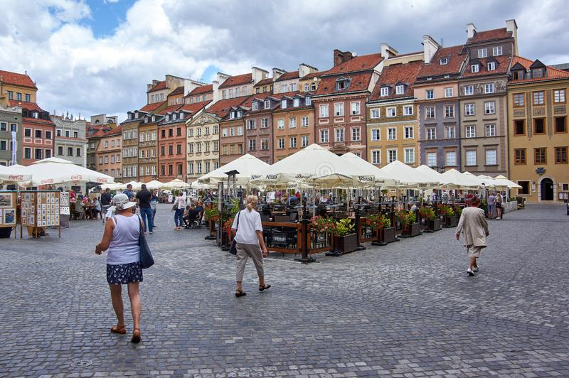 Old town Warsaw stock photography