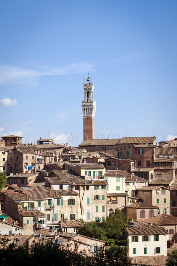 Free Old Town With Tall Tower Royalty Free Stock Image - 33322116