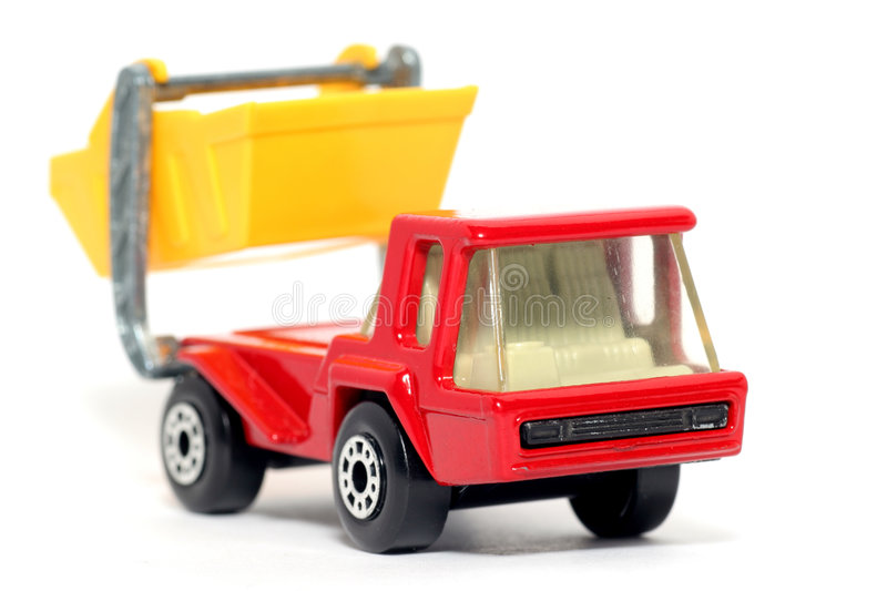 Old Toy Car Atlas Skip Truck Stock Image