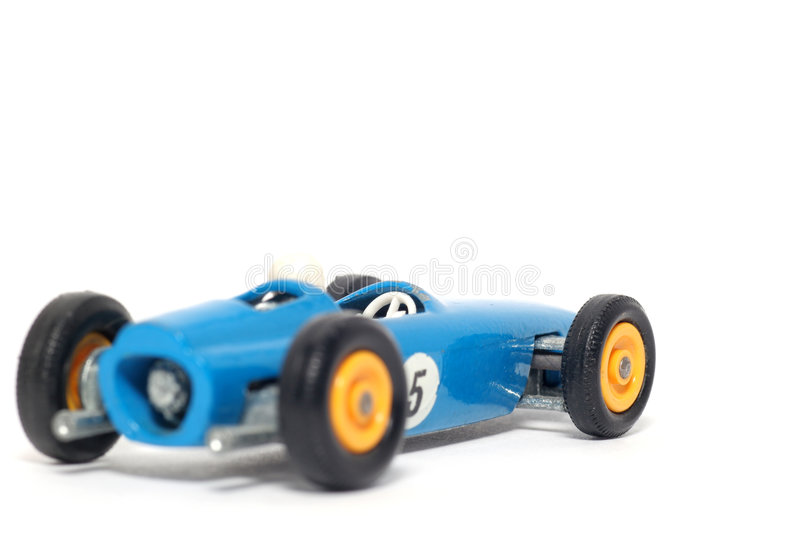 Old toy car B.R.M. Race car stock photo