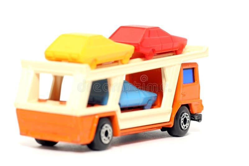 Old toy car Car Transporter #2 royalty free stock photos