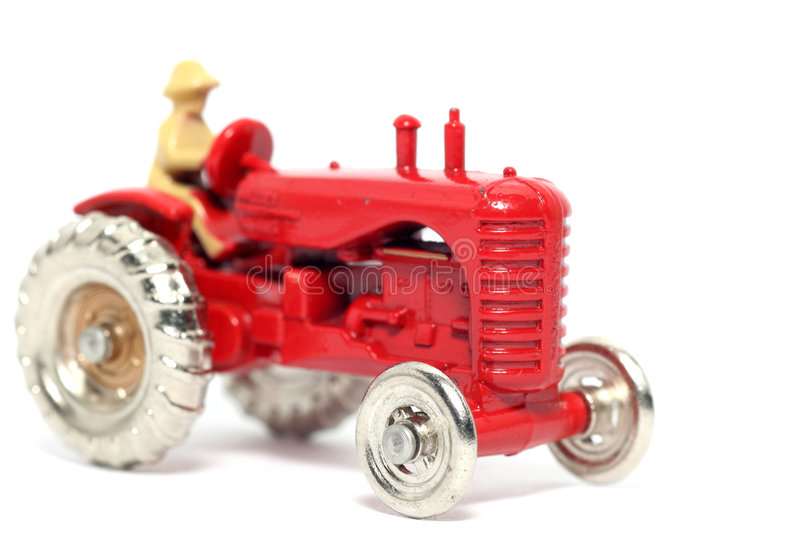 Old Toy Car Massey Harris Tractor #2 Stock Images