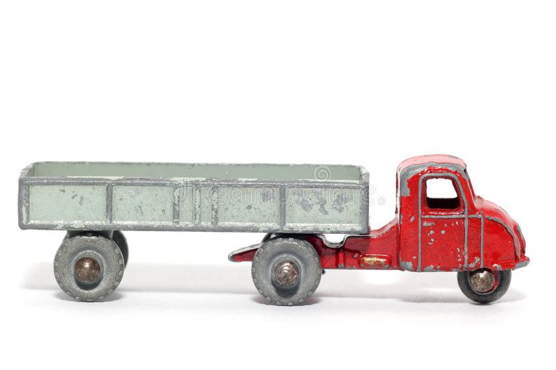 Download Old Toy Car Mechanical Horse And Trailer #3 Stock Image - Image: 1974109