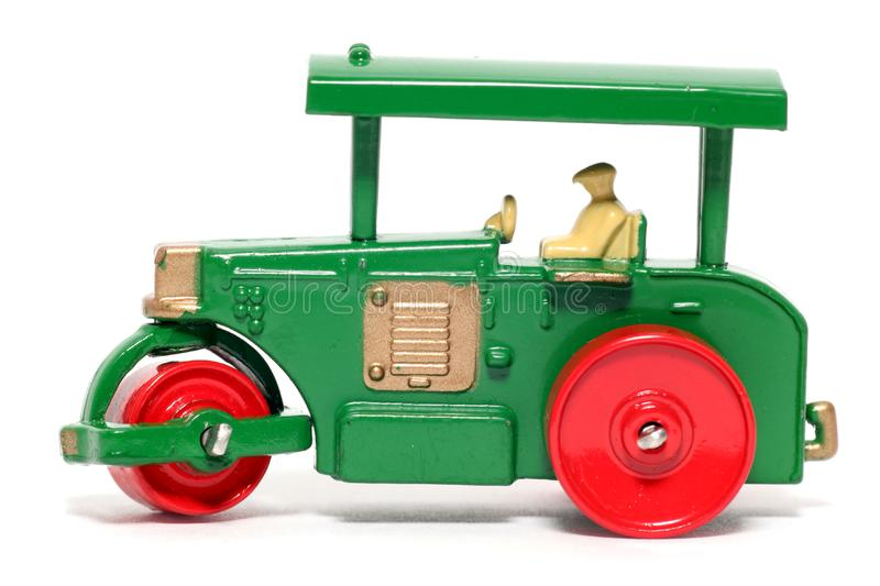 Old toy car Road Roller royalty free stock image