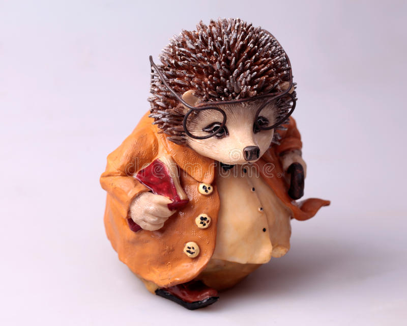 Old toy hedgehog royalty free stock photo