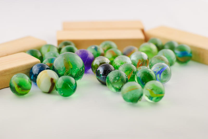 Download Old toy marbles stock photo. Image of childhood, blue - 50938162