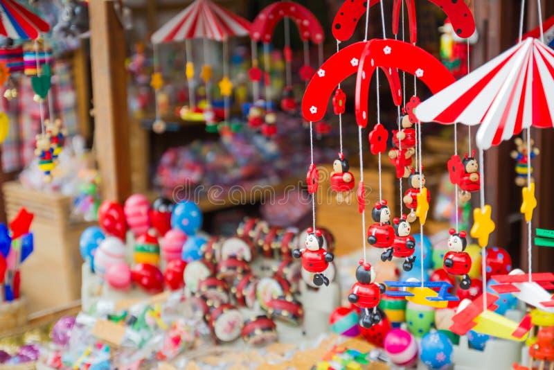 Old toy shop. At Chiang Khan, Thailand royalty free stock image