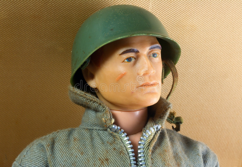 Old Toy Soldier. From almost 40 years ago stock images