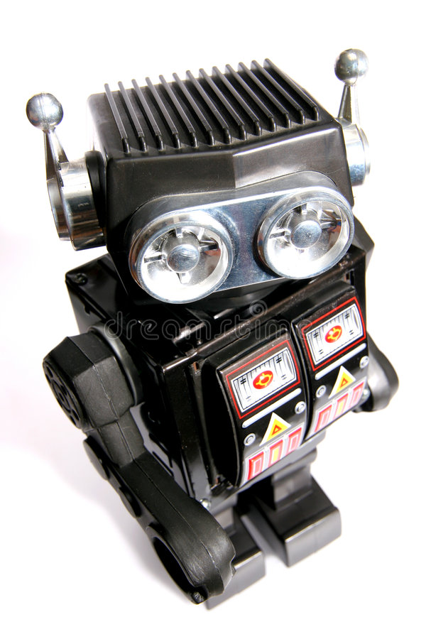 Download Old toy tin robot #3 stock image. Image of child, playing - 1828161