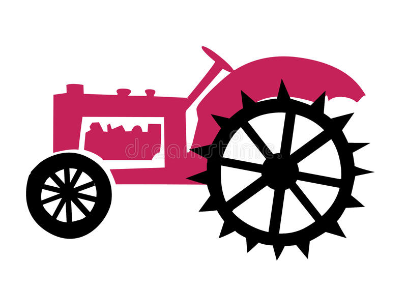 Old tractor. Vector illustration of the old tractor stock illustration