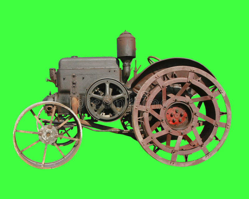 Download OLD TRACTOR stock photo. Image of released, rustikal, bulldog - 1283752