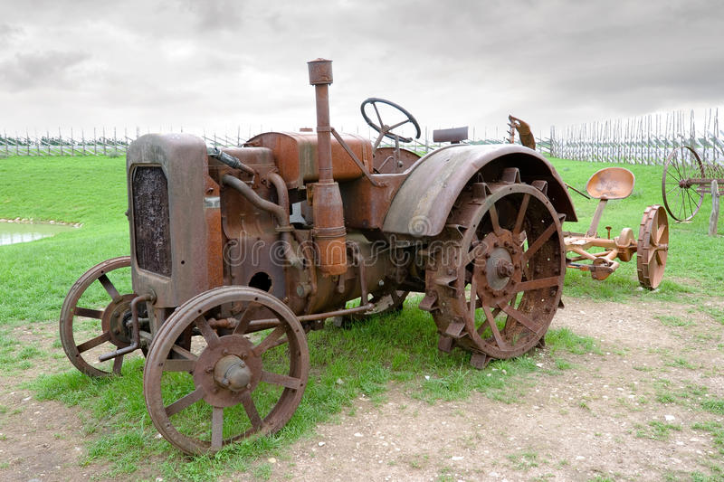 Download Old tractor stock photo. Image of brown, machinery, machine - 15734142