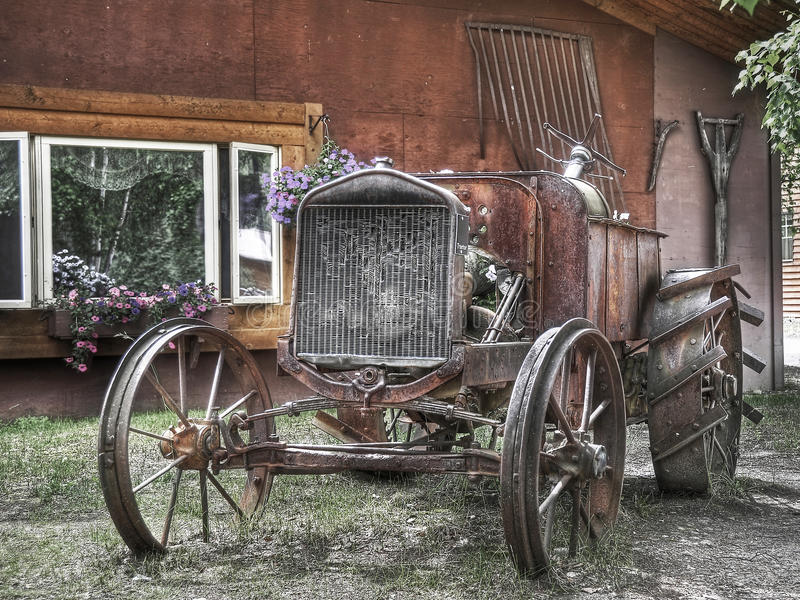 Old Tractor. Exhibit of an Old rusty tractor royalty free stock photos