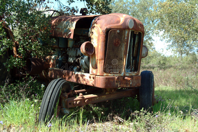 Download Old tractor stock photo. Image of grass, farming, drive - 459944