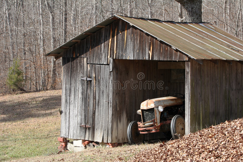 Download Old Tractor stock image. Image of weathered, leaves, roof - 474375
