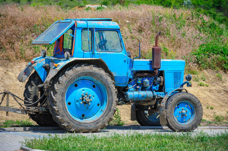 Download Old tractor stock photo. Image of harvest, machine, machinery - 37940516
