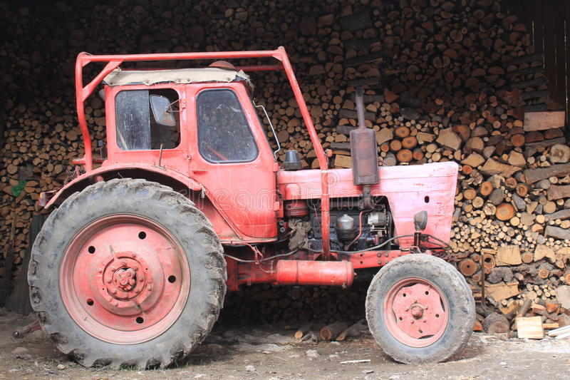 Download Old tractor stock photo. Image of farm, care, retro, hutch - 34145432