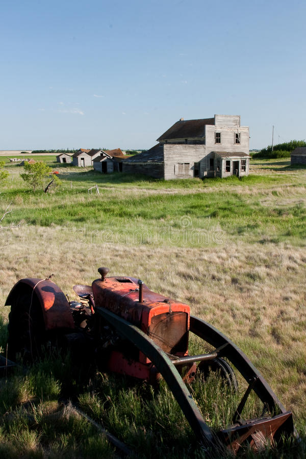 Download Old Tractor in Ghost Town stock photo. Image of nature - 10142826