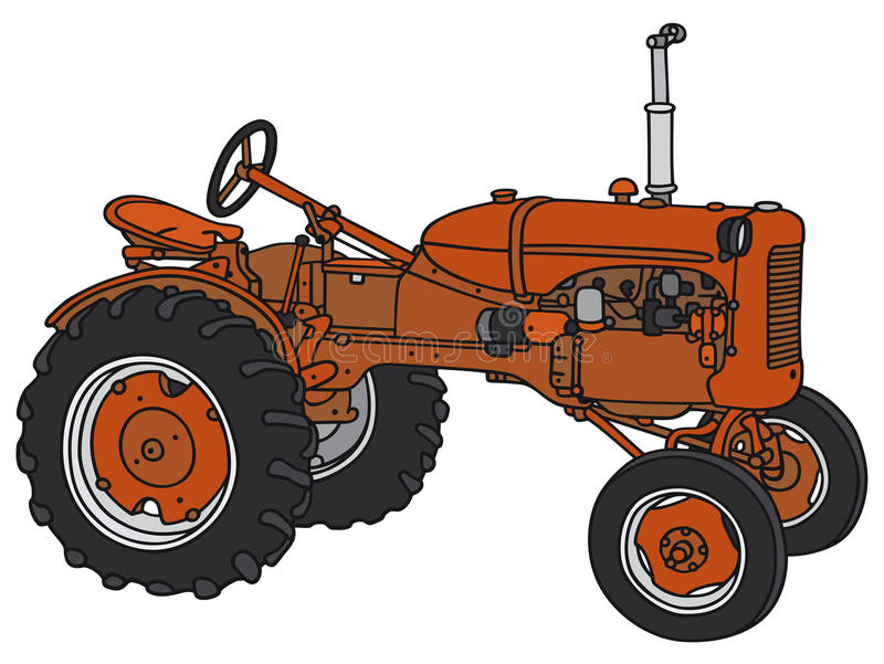 Old tractor royalty free illustration