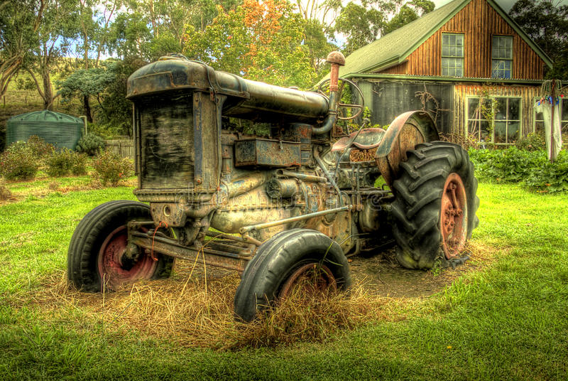 An Old Tractor in HDR royalty free stock images